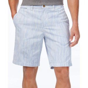 Tommy Bahama Blue & White Striped Cotton Shorts